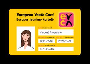 jaunimo kortelė nuolaida