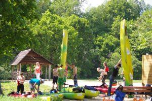 Pajurio rekreacine stovyklaviete ir plaukimas baidaremis