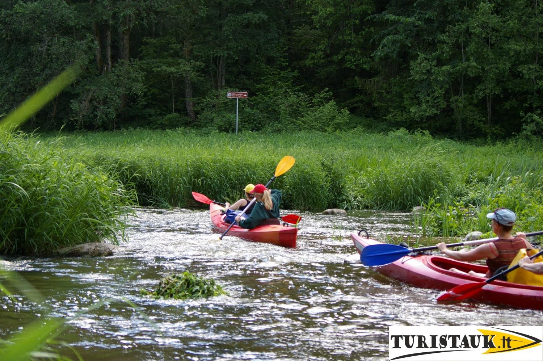 Jūros upės baidarių maršrutas Kirnės - Pajūris su stovyklaviete, Turistauk.lt